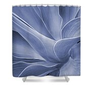 Agave In Blue Shower Curtain
