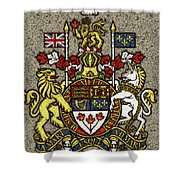Aged And Cracked Canada Coat Of Arms Shower Curtain
