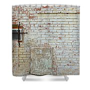 Aged Brick Wall With Character Shower Curtain