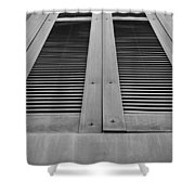 Aged Shutters Shower Curtain