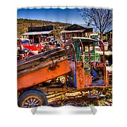 Aging Dump Truck Shower Curtain