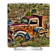 Aging Truck Shower Curtain