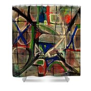 Agrarian Compass Shower Curtain