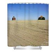 Agricultural Landscape. Limagne. France Shower Curtain