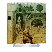 Agriculture, Medieval Farming Shower Curtain