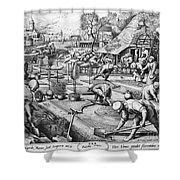 Agriculture: Spring, C1555 Shower Curtain