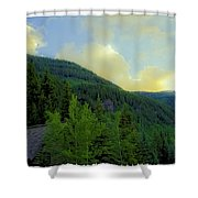 Ah To Live On Vail Mountain Shower Curtain