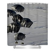 Air Delivery Cargo Is Released Shower Curtain