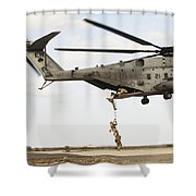 Air Force Pararescuemen Conduct Shower Curtain