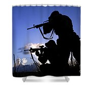 Air Force Security Forces Personnel Shower Curtain