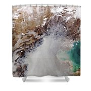 Air Pollution Over China Shower Curtain