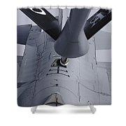 Air Refueling A Norwegian Air Force Shower Curtain by Daniel Karlsson