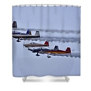 Air Show Flyover Shower Curtain