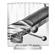 Airbrush, 1886 Shower Curtain