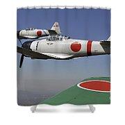 Aircraft From The Tora, Tora, Tora Shower Curtain