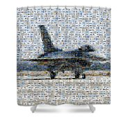 Airforce F-4866 Mosaic  Shower Curtain