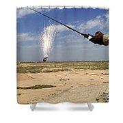 Airmen Conduct A Controlled Detonation Shower Curtain