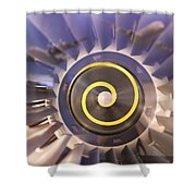 Airplane Engines On Display Shower Curtain