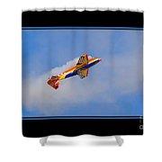 Airplane In Flight Shower Curtain