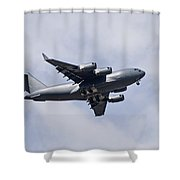 Airplane In The Sky Shower Curtain