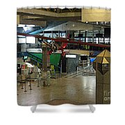 Airport Before The Busy Day. Vilnius. Lithuania. Shower Curtain