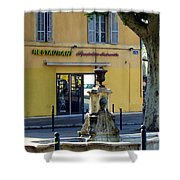 Aix En Provence Fountain Shower Curtain