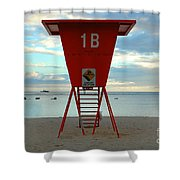 Ala Moana Lifeguard Station Shower Curtain