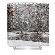 Alabama Winter Wonderland Shower Curtain