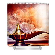 Aladdin Lamp Shower Curtain