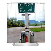 Aladdin Wyoming Shower Curtain by Susanne Van Hulst