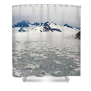 Alaska Frontier Shower Curtain by Mike Reid