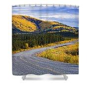 Alaska Highway Near Beaver Creek Shower Curtain
