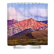 Alaska Range And Fall Colours Shower Curtain