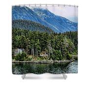 Alaskan Mountain Retreat Shower Curtain