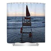 Alassio Sunset Facing East Shower Curtain