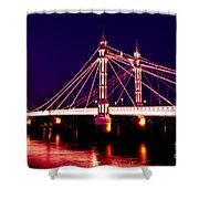 Albert Bridge London Shower Curtain