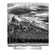 Alberta Rockies Shower Curtain