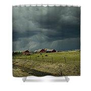 Alberta Stormy Weather Shower Curtain
