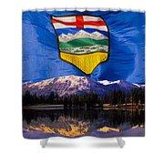 Albertas Rocky Mountains Shower Curtain