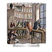 Albrecht Von Haller In Lab Shower Curtain