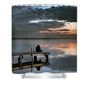 Albufera. Couple. Valencia. Spain Shower Curtain