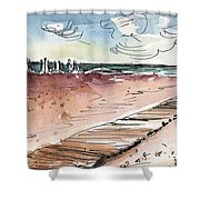 Albufera De Valencia 01  Shower Curtain