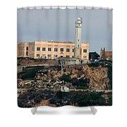 Alcatraz Island Lighthouse - San Francisco California  Shower Curtain
