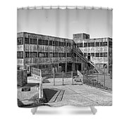 Alcatraz Model Industries Building Shower Curtain