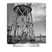 Alcatraz Penitentiary Water Tower Shower Curtain