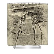 Alcatraz Two-way Work Staircase Shower Curtain