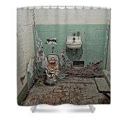 Alcatraz Vandalized Cell Shower Curtain