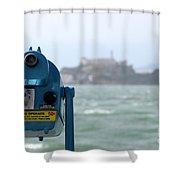 Alcatraz View Shower Curtain
