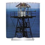 Alcatraz Watch Tower Shower Curtain by Paul W Faust -  Impressions of Light
