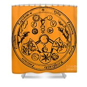 Alchemical Symbols, 1670 Shower Curtain